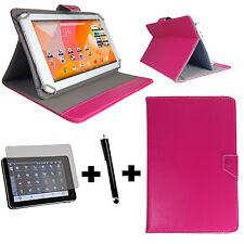 3er Set - Odys Ieos Next 10 Tablet Tasche + Folie + Pen - 3in1 10 Zoll Pink