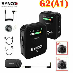 SYNCO G2A1 2.4GHz Wireless Lavalier Microphone System For Camera Smartphone Vlog