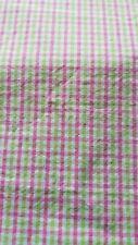 Seersucker type fabric 3 yd 60 wide. Prewashed. Neon pink and neon green check