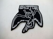 "Led Zeppelin 3"" Embroidered Swan Song Iron On Patch Plant Paige Hard Rock"