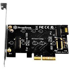 SILVERSTONE SST-ECM20 NGFF M.2 SSD M-KEY TO PCIE 4X & B-KEY TO SATA 6G ADAPTER