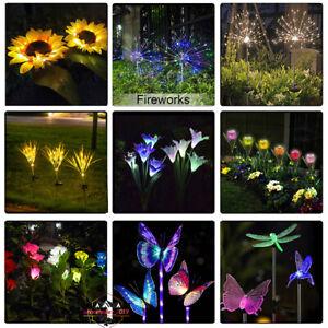 Vivid Flower Light Rose Lily Tulip Flower Sunflower Yard Patio Solar Light Lamp