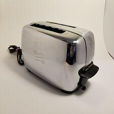 Vintage General Electric GE Chrome & Bakelite 2 Slice AutoMatic Toaster T34B
