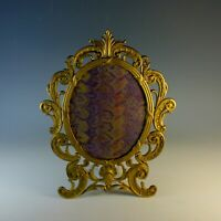 Vintage Large Oval Gilt Brass Easel Backed Photo Frame