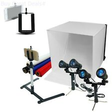 Photography Table Top Photo Lighting Tent Kit 24in Box Camera Tripod Phone Holde