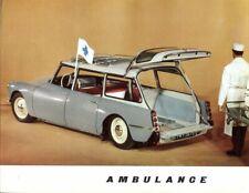 Citroen ID19 Ambulance French market sales Brochure 1961