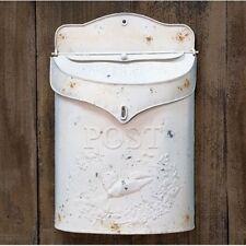 White Metal Post Box *New Farmhouse Decor Trend**