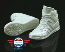 1/6 Adidas style white color sneakers PEG STYLE for 12'' FEMALE Figure Doll