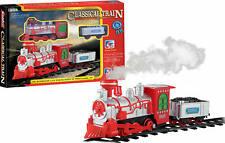 Luna Eisenbahn Spielset 9-tlg. Dampflok Tender Schienen mit Licht u. Sound +3J
