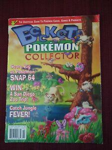 Beckett Pokemon collector magazine October 1999 volume 1, issue #2 memorabilia
