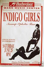 Indigo Girls 1994 Philadelphia Concert Tour Poster - Folk Rock Music