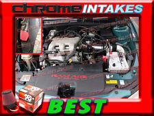 K&N+BLACK RED 97 98 99 00-03 CHEVY MALIBU 3.1 3.1L V6 FULL COLD AIR INTAKE 3pc