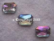 Aufnähsteine Strass Schmucksteine zum aufnähen Achteck ca.14 x 10 mm AB Crystal