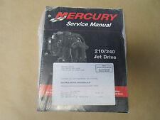 2000 Mercury 210/240 Jet Drive Service Manual 90-877837R01 OEM 00 NEW X