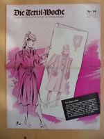 DIE TEXTIL-WOCHE 14 - 30.März 1940 Mode Werbung
