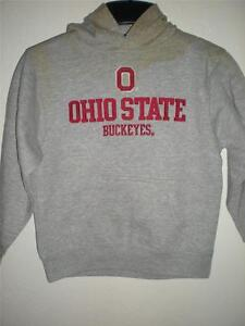 NEW-Dirty Ohio State Buckeyes KIDS Size L Large Size 7 Gray Hoodie