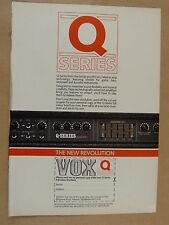 vintage magazine advert 1989 VOX Q SERIES