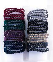 New Authentic Swarovski Power Slake Crystals Double Wrap Bracelet Necklace