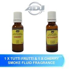 SMOKE HAZE FOG MACHINE FLUID AROMA SCENT 1 X CHERRY & 1 X TUTTI FRUTTI FLAVOUR