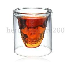 6x 250ml Cool Skull Design Glass Tea Cup Cocktail Beer Cup Vodka Shots Juice Cup