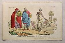 Nord africa Costume tradizionale Berbero Incisione a 1825 Giarre tinto Grafica