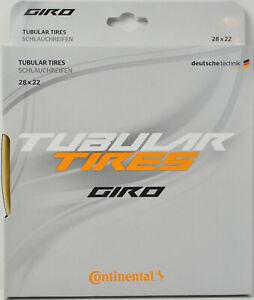 "NEW 2021 CONTINENTAL GIRO Tubular Road Tire 700x22mm 700c 28"" Black Skinwall"