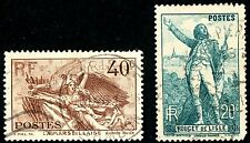 FRANCE 1936-1944 LOT OF FIFTY-TWO SCOTT 309 TO 387 POSTAGE STAMPS