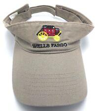 WELLS FARGO beige adjustable visor - 100% cotton