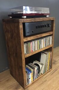 Hi Fi Cabinet/Separates/Reclaimed Wood/Record Player/LP/Vinyl Storage