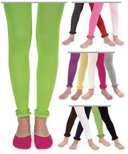 Jefferies Pima Cotton Ruffle Footless Tights  6-18M, 18-24M, 2-4Y, 4-6Y
