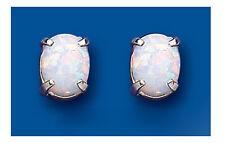 Opale Orecchini In Argento Bottone Argento Sterling Borchie Ovale Solitario