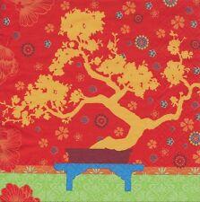 2 Serviettes en papier Jardin Japonais - Paper Napkins Japanese garden