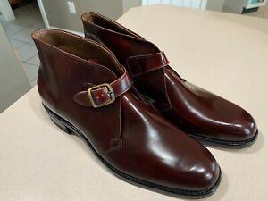 WALK-OVER Men's Vintage Brown Leather 79058J Buckle Strap Shoes Size 12C (NEW!)