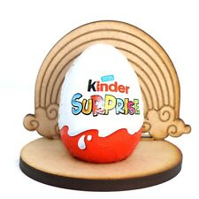 Wooden MDF Easter Rainbow Craft Kinder Egg Holder Stand Perfect Easter Gift