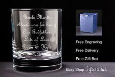 Personalised 10oz Whisky Glass, Godfathers / Godmothers / Christening Gift
