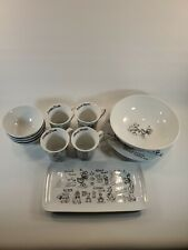 Nwt Disney Sketchbook Dinnerware 14 Piece Plates Bowls Mugs Serving Plate &
