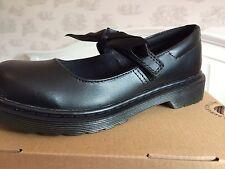 Dr Martens en cuir noir souple maccy Girls Mary Jane École Chaussures Taille UK 2, EU 34