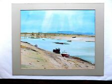 Shoreham Boats Sussex Watercolour/Guache Original Painting Brian Lowe Brighton