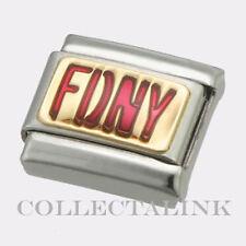 Original 18k Nomination Enamel Red FDNY Charm