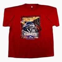 Vintage New York Giants Big Blue NFL Red Used T Shirt Men's XXL Tee VF Imagewear