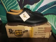 NIB RARE MADE IN ENGLAND DR MARTENS BLACK GREASY 3 EYELET SHOES 1461 SIZE 15