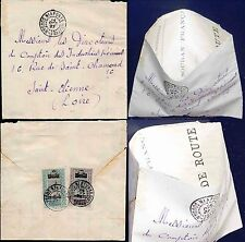 FRENCH SAHARA 1927 NIAFUNKE OFFICIAL DOCUMENT FORMED into ENVELOPE...AOF CAMELS
