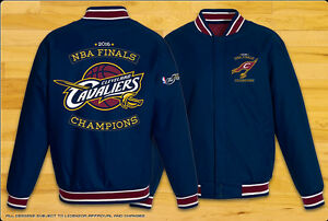 Cleveland Cavaliers NBA Finals 2016 Champions Jacket Polyester Navy Blue BLOWOUT