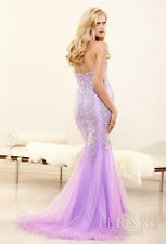 $394 NWT LILAC TERANI COUTURE PROM/PAGEANT/FORMAL DRESS/GOWN #P3103 SIZE 4