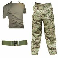 BRITISH ARMY MTP SET - USED - TROUSERS / BELT / COOLMAX SHIRT - AIRSOFT - CADET