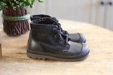 NIB unisex girls/boys black Palladium Pampa hi leather boots