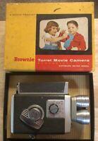 Kodak Brownie Turret Movie Camera  With Box And Manual