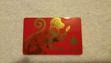 MACYS Chinese New Year Monkey 2016 COLLECTIBLE Gift Card NO VALUE Red Lunar