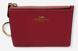 Coach Women's Mini Skinny Crossgrain Leather ID Case and Coin Pocket