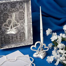 Wedding Reception Guest Book Signing Pen Silver Pen Holder Stand Decor Nice